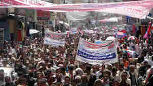 Thousands of Yemeni anti-government protesters demonstrated in the city of Ibb on Monday (June 6, 2011).
