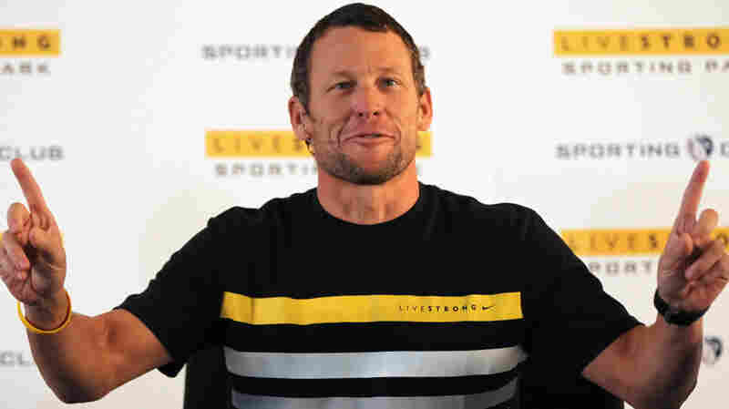 Lance Armstrong speaks at a press conference to announce the naming rights of the new Livestrong Sporting Park in Kansas City, Kan. It's the first major stadium in the U.S. named after a non-profit organization.