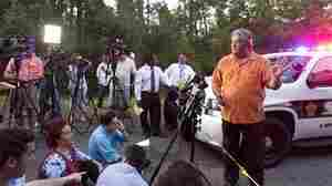 Liberty County Judge Craig McNair alerts the media that the authorities didn't find any dead bodies near a Hardin, Texas farmhouse on Tuesday (June 7, 2011).