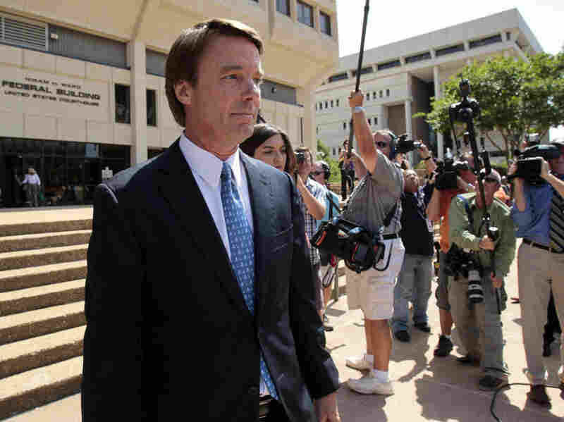 Former presidential candidate John Edwards leaves federal court in North Carolina last week.
