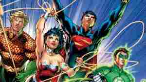 WE'RE NUMBER 1! Uh, literally. Cover of JUSTICE LEAGUE #1, due in September.