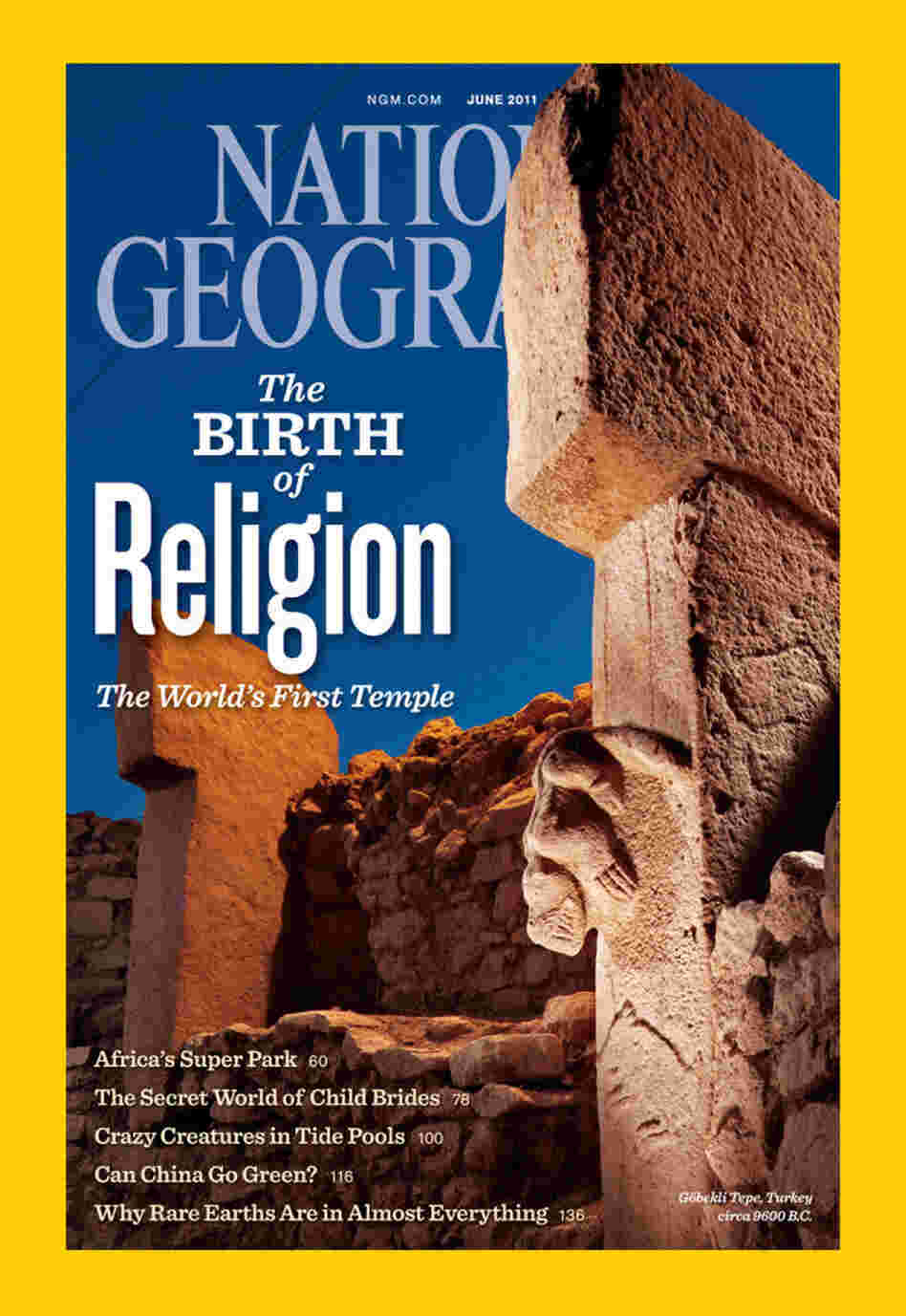 The June 2011 cover of National Geographic Magazine