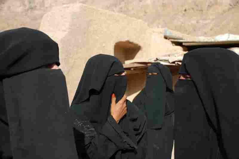 Women in Yemen.