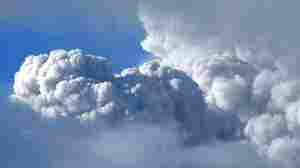 A cloud of ashes billowed from the Puyehue volcano between clouds on Tuesday (June 7, 2011).