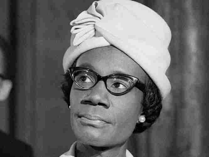 Shirley Chisholm, seen in 1968, received the votes of 151 delegates at the 1972 Democratic convention.