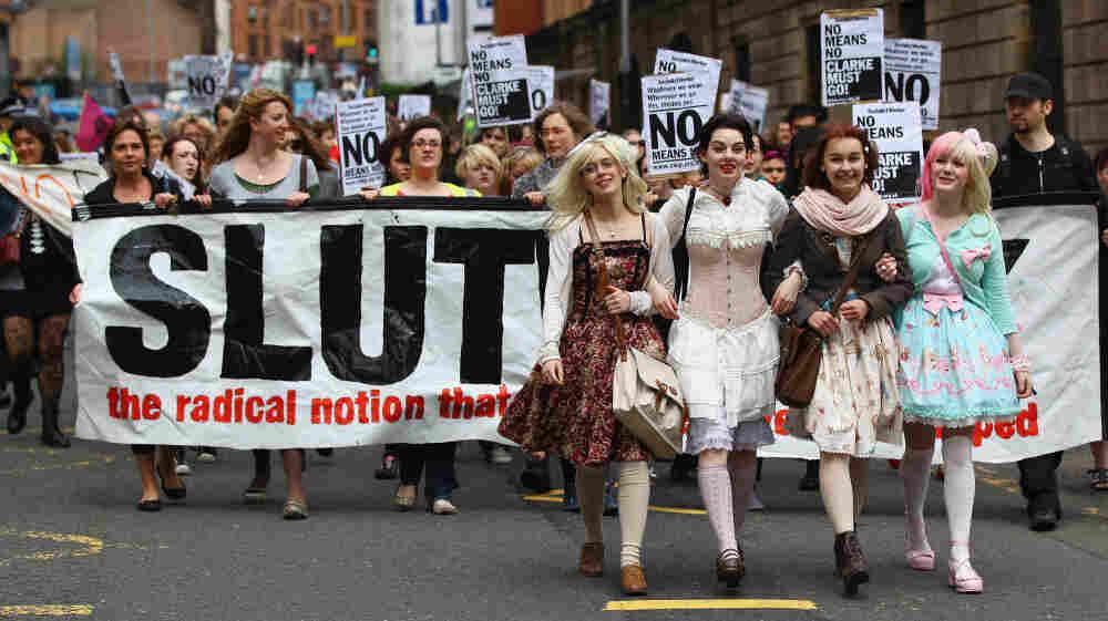 Demonstrators of the Slutwalk march on June 4, 2011 in Glasgow, United Kingdom.