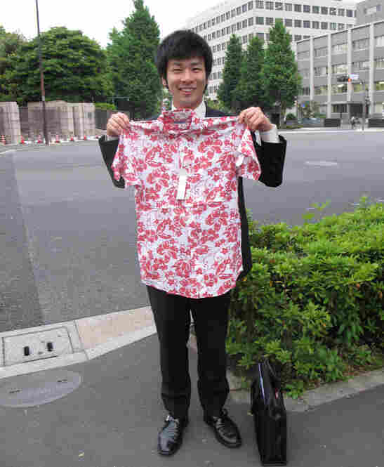 """I would wear this if my company let me,"" says recruitment consultant Tomoyoki Chikawa."