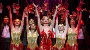 Sutton Foster (center) stars as Reno Sweeney, an evangelist turned nightclub singer, in this season's revival of Anything Goes.
