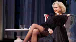 Nina Arianda plays Billie Dawn, a showgirl accompanying a corrupt tycoon to Washington, D.C., in the Broadway revival of Born Yesterday.