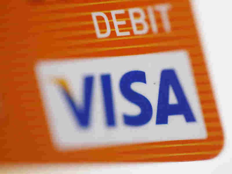 Visa debit card.