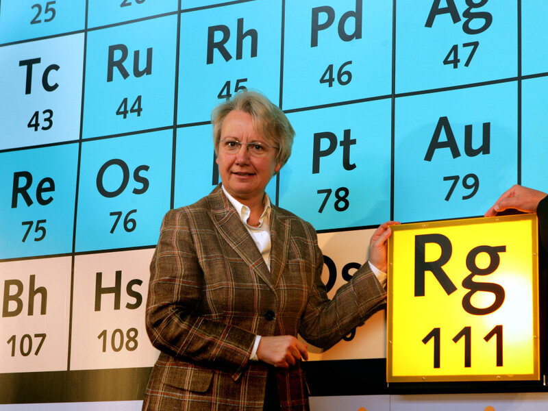 how to put a new element on the periodic table