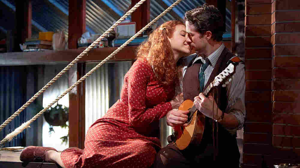 Nora Fiffer and Chance Bone of Chicago's Lookingglass Theatre in the company's current production of The Last Act of Lilka Kadison.