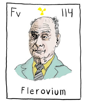 one of the rumored names for element 114 is flerovium after soviet scientist georgy flyorov justin wittetinymarkers hide caption