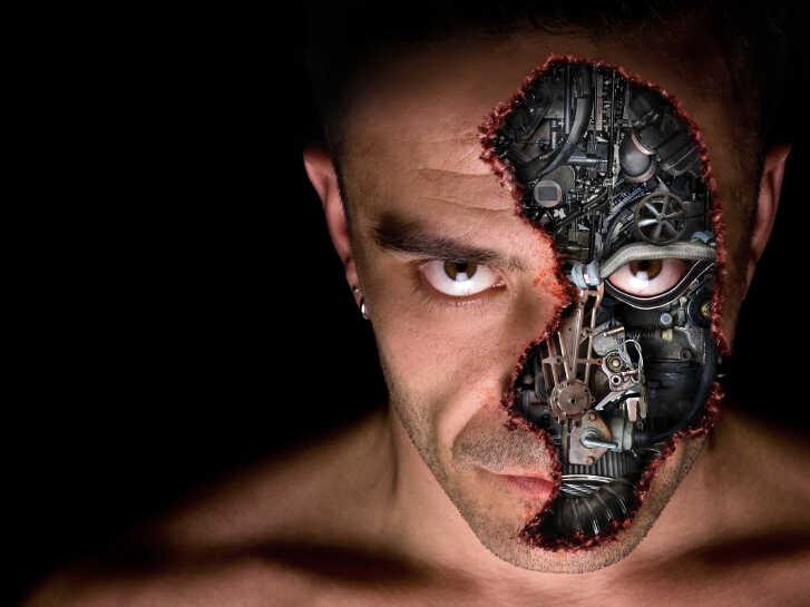 An evil bionic man