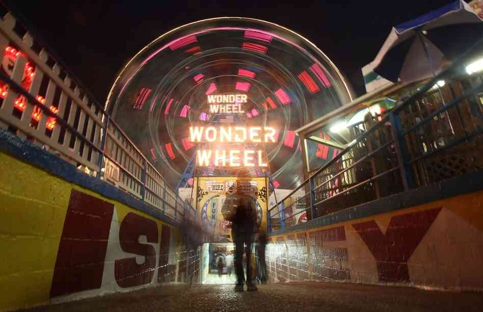 Down On The Boardwalk: Vaclav and Lena, the young protagonists of Haley Tanner's debut novel, have their first play date together at Coney Island's Wonder Wheel.
