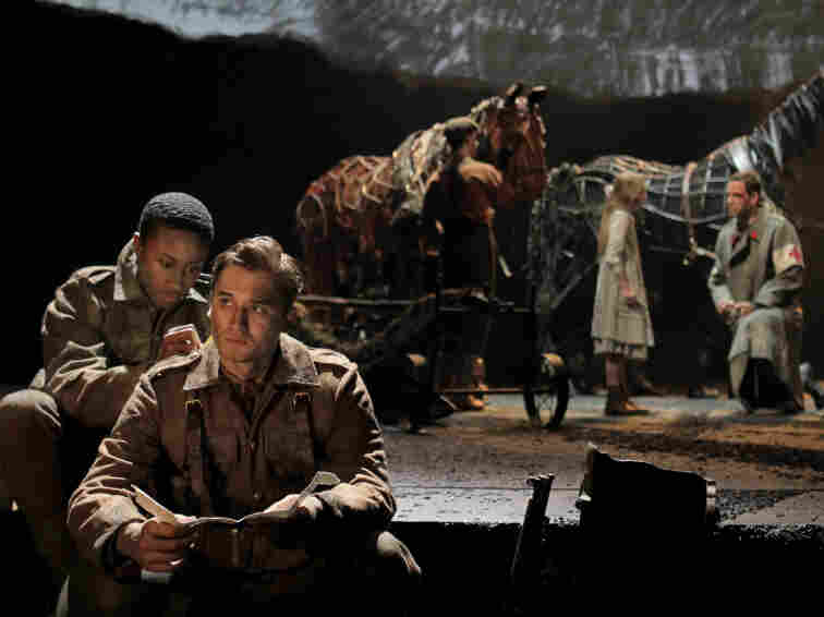 David Pegram (left) and Seth Numrich in a scene from Nick Stafford's War Horse.
