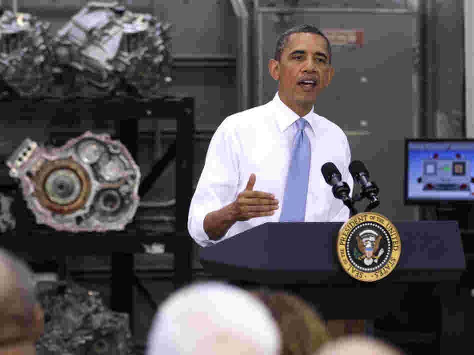 President Obama visited a community college automotive training program in northern Virginia on Wednesday.