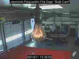 """The Centennial Bulb. Click the link to be taken to the """"BulbCam."""""""