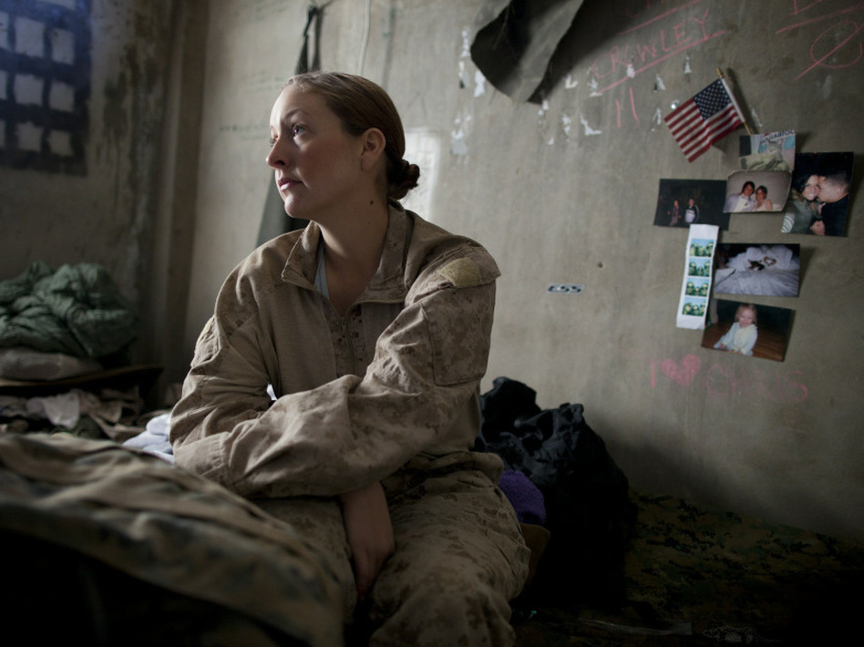 A U.S. Navy sailor waiting to be sent out on a mission in Afghanistan in November 2010.