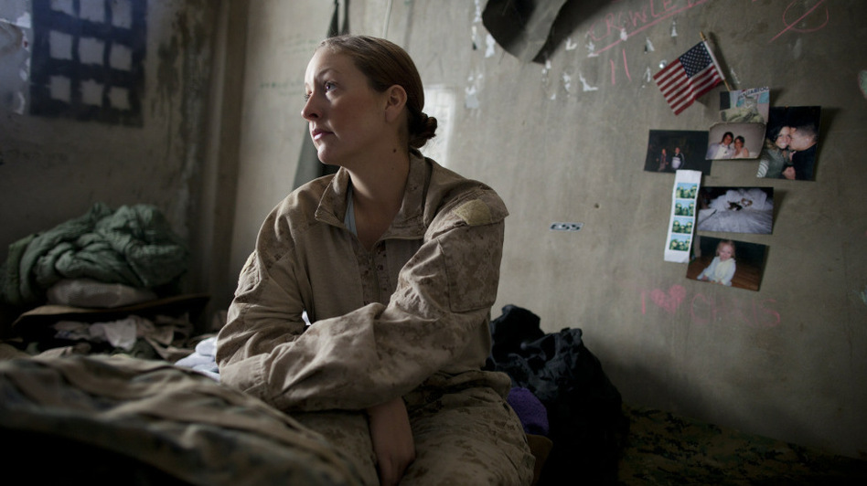 A U.S. Navy sailor waiting to be sent out on a mission in Afghanistan in November 2010. (Getty Images)