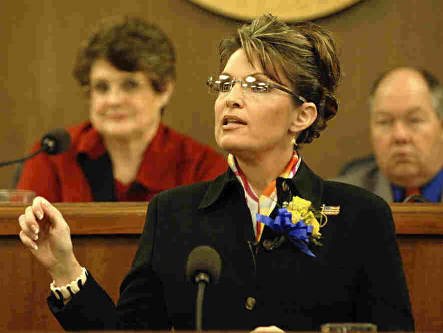 Then-Gov. Sarah Palin gives her  State of the State speech to the Alaskan legislature, Jan. 15, 2008.