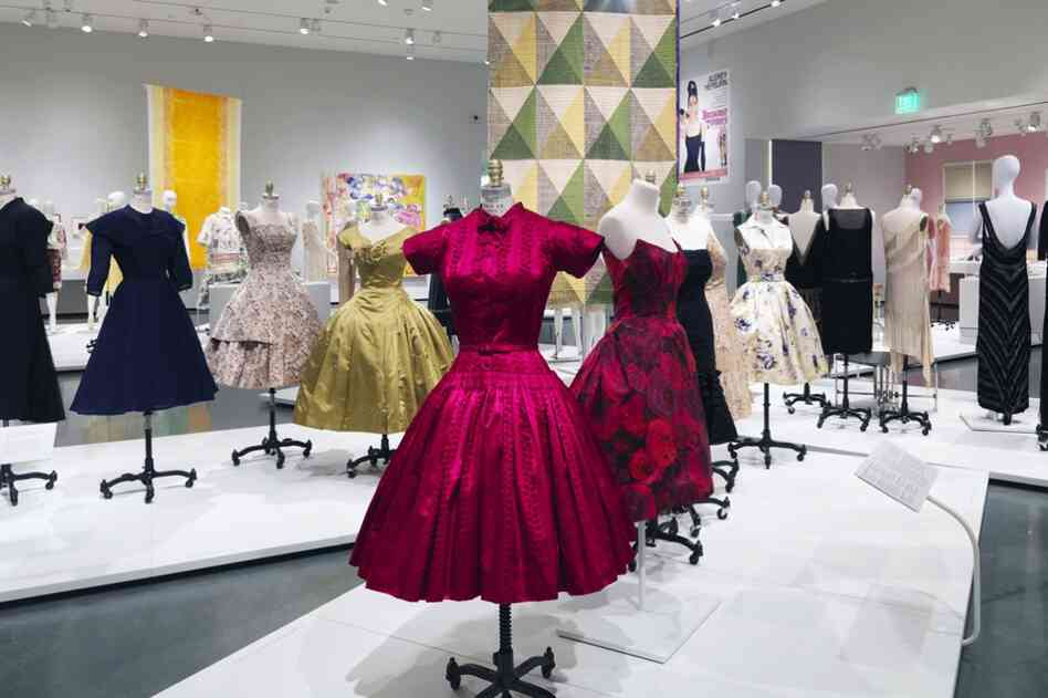 Walking through Cocktail Culture at the Rhode Island School of Design's Museum of Art feels like attending a six-decade-long cocktail party. Above, a cocktail dress, ca. 1949, designed by Norman Norell and Anthony Traina.