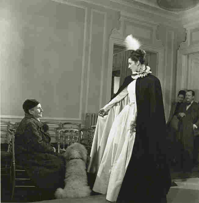 Gertrude Stein at Balmain Fashion Show, 1946