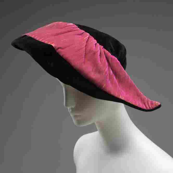 Hat, ca. 1940, by G. Howard HodgeSilk, rubber, cotton, cut warp pile, quilting