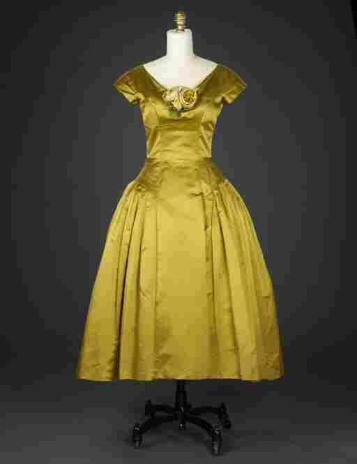 Evening dress, 1950s, Mignon/Paris New YorkAcetate, silk, satin weave