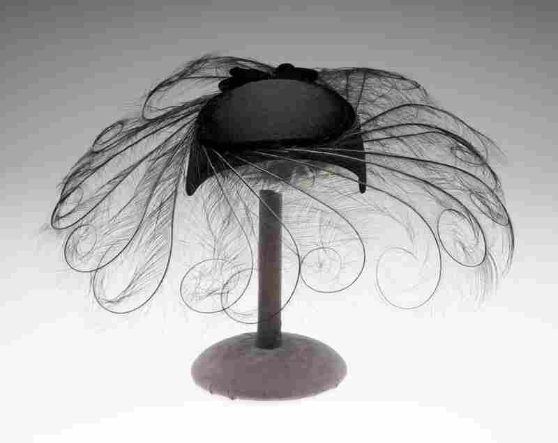 Cocktail hat, 1950, Joseph's New YorkWool, silk, egret feather, felt, cording, cut warp pile