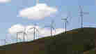 Wind turbines along the Columbia River Gorge near Goldendale, Wash. The Obama administration is hoping that a bet on green technologies will create the jobs of the future.