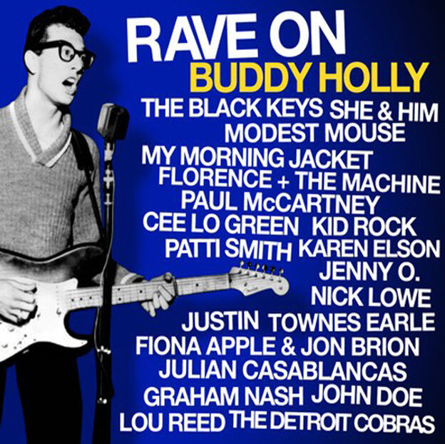 Album cover for Rave On Buddy Holly
