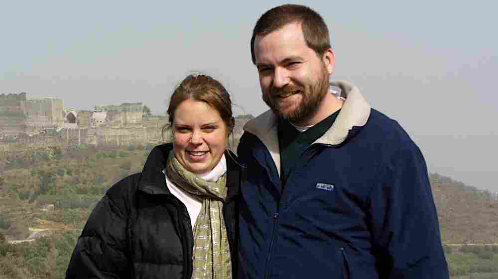 """Tom MacMaster and his wife Britta Froelicher. This picture was in a Picasa album titled """"Syria/It's THE BEST!"""" This picture was is in the same album that contained the nine pictures Amina Araf sent to a friend."""