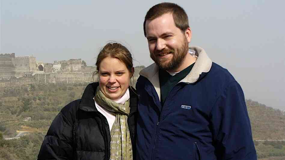 "Tom MacMaster and his wife Britta Froelicher. This picture was in a Picasa album titled ""Syria/It's THE BEST!"" This picture was is in the same album that contained the nine pictures Amina Araf sent to a friend."