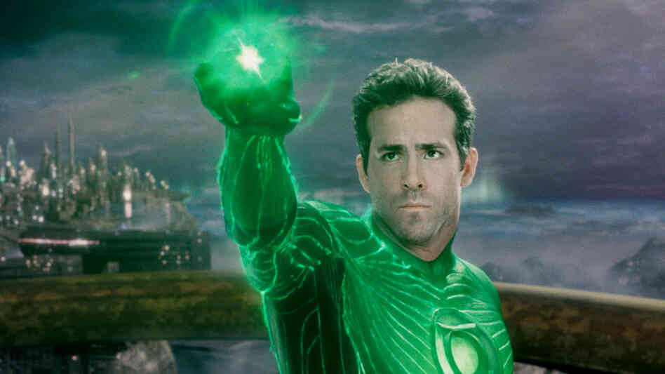 Green Man: Fighter pilot turned defender of the universe Hal Jordon (Ryan Reynolds) uses his magic ring to do battle with evil. The ring gives him the ability to conjure any shape he desires, but not, unfortunately, to conjure realistic-sounding dialogue.