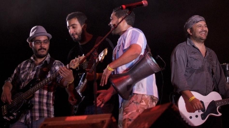 Hoba Hoba Spirit, on stage in Morocco.