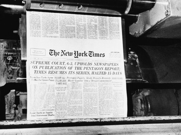 July 1, 1971: After getting the green light from the Supreme Court, The New York Times resumes publication o