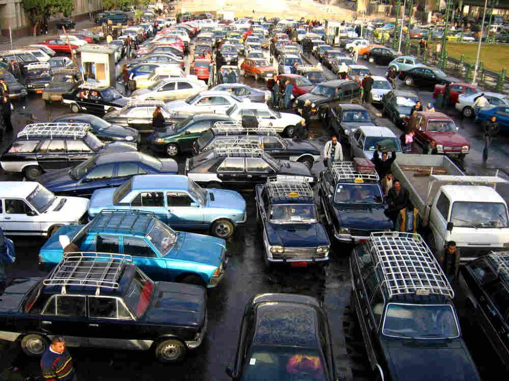 A Cairo traffic jam.