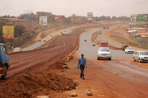 Three Chinese companies are building a massive superhighway in Kenya linking Nairobi with the city of Thika. The road, as wide as 16 lanes, is the biggest of its kind in East  Africa.