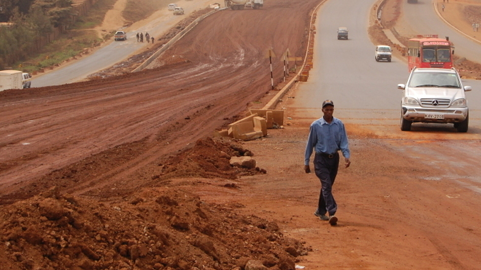 Three Chinese companies are building a massive superhighway in Kenya linking Nairobi with the city of Thika. The road, as wide as 16 lanes, is the biggest of its kind in East  Africa. (NPR)