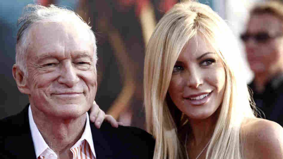 Hugh Hefner and Crystal Harris on April 26, 2010.