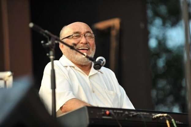 Eddie Palmieri performs at the 2011 DC Jazz Festival's concert on the National Mall.