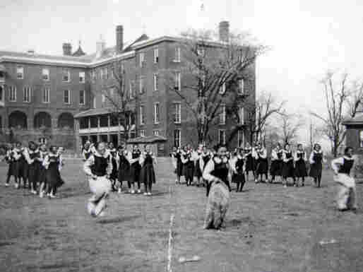 Outdoor activities at Belmead-on-the-James, a plantation turned educational institution in Powhatan County, Va. The campus once boasted 40-plus buildings; today, only three major historic structures remain standing.