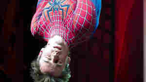 Reeve Carney appears onstage at the curtain call for the opening night performance of the Broadway musical Spider-Man Turn Off the Dark.