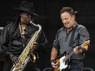 Saxophonist Clarence Clemons and Bruce Springsteen during a 2009 concert in Munich.