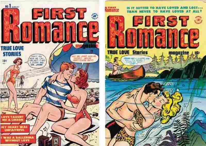 First Romance, Issue #1, August 1949. Issue #7, June 1951.