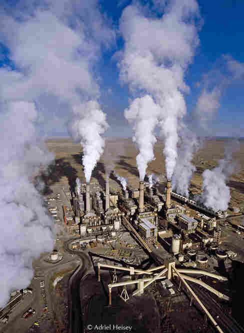 Energy development has left the sacred sites of the Chaco Landscape vulnerable. Above, the San Juan Generating Station, a coal-fired power plant near Farmington, N.M.