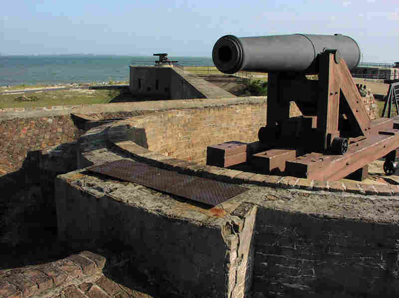 Fort Gaines, located on Dauphin Island, Ala., played a pivotal role in the Civil War Battle of Mobile Bay in 1864. Four hundred feet of the historic battle site has already been lost to erosion.