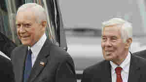 Sens. Orrin Hatch (R-UT, left) and Richard Lugar (R-IN) have been targeted by the Club for Growth for not being fiscally conservative enough in their politics.