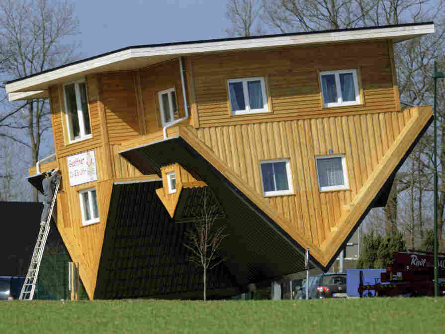 Blind painters are remarkable; upside down houses are astonishing.